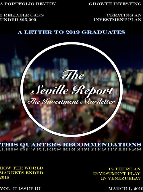 The Seville Report, Vol II, Issue III