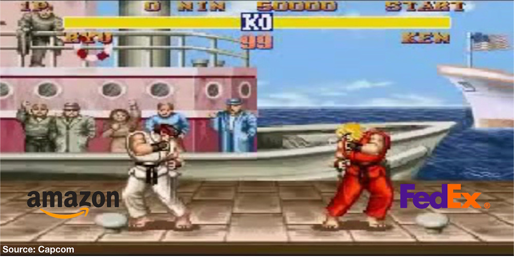 Source: Capcom, Street Fighter 2. Amazon vs Fedex