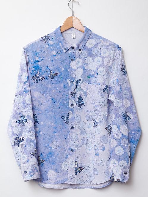 春の蝶men'sシャツ