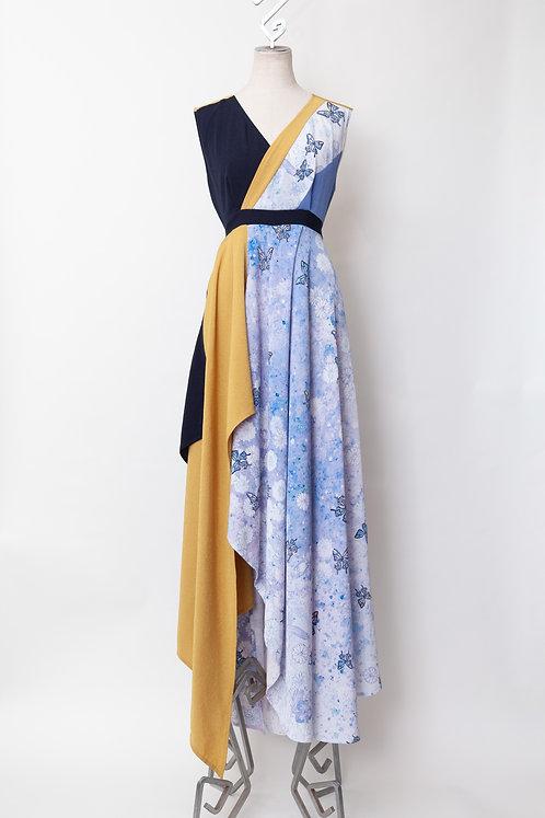 春の蝶一点物ドレス