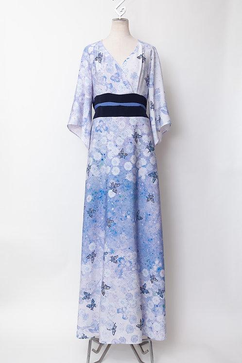春の蝶着物ドレス