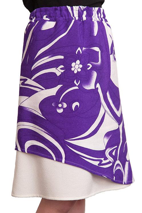 2枚skirt Sk-0004紫マーブル