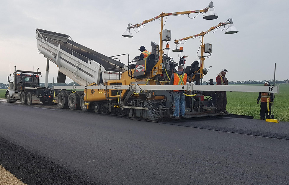 Super Averaging Beam Installed on a Highway Class Paver