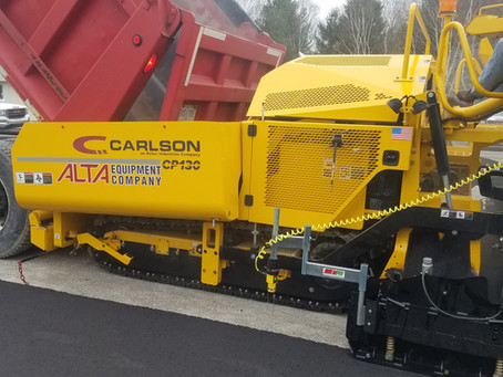 ON GRADE! Mini Line Dual Grade System on new Carlson CP130 paver