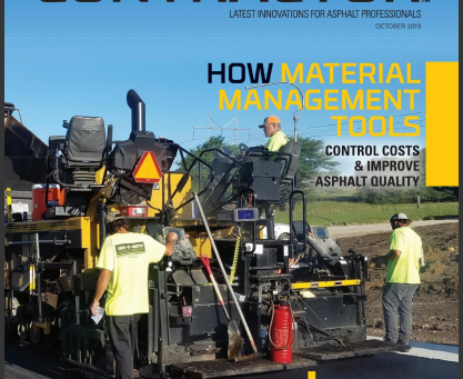 Mat Manager Featured on Cover of October 2019 issue of Asphalt Contractor Magazine