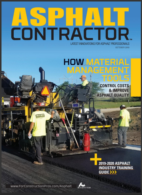 Mat Manager cover Asphalt Contractor Magazine