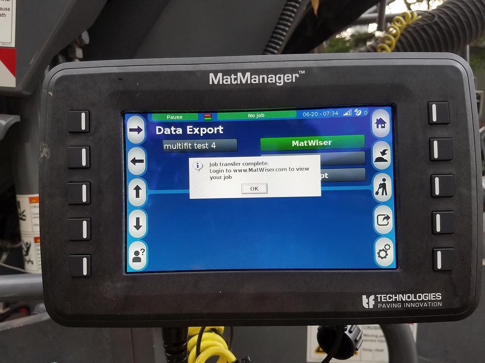 Mat Manager data upload