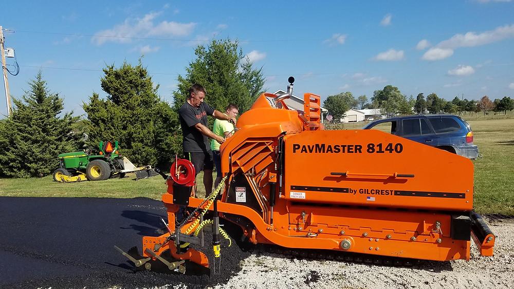 John Hood testing new paver - Still Hunting