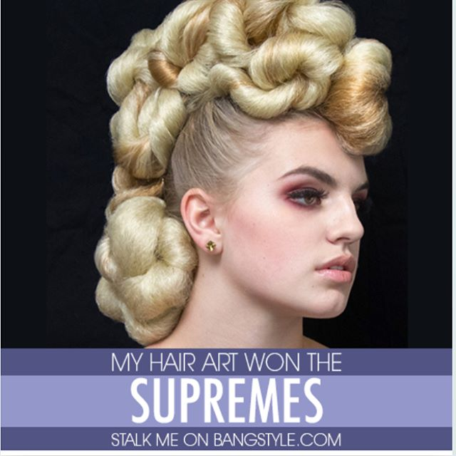 Jenifer's hair art won the  SUPREMES on _bangstyle !! Congrats to all the amazing work and artists f
