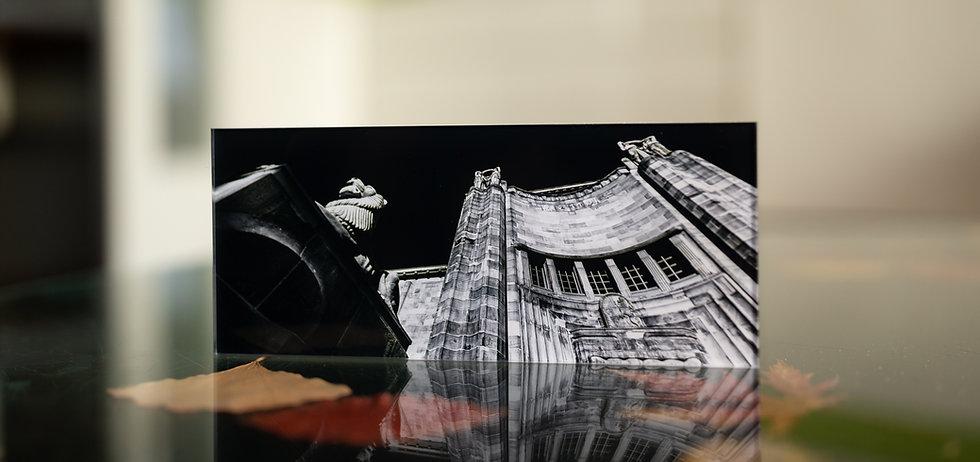 KUNSTHALLE MANNHEIM IN INFRAROT - Echter Fotoabzug   hinter 4mm Acrylglas   auf 2mm AluDibond   inkl. Aufhängung von Alexander Kästel