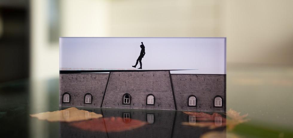 AUS DEM NICHTS - KUNSTHALLE UND MARITIM - Echter Fotoabzug   hinter 4mm Acrylglas   auf 2mm AluDibond   inkl. Aufhängung von Alexander Kästel
