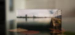 DER RHEIN - Echter Fotoabzug   hinter 4mm Acrylglas   auf 2mm AluDibond   inkl. Aufhängung von Alexander Kästel