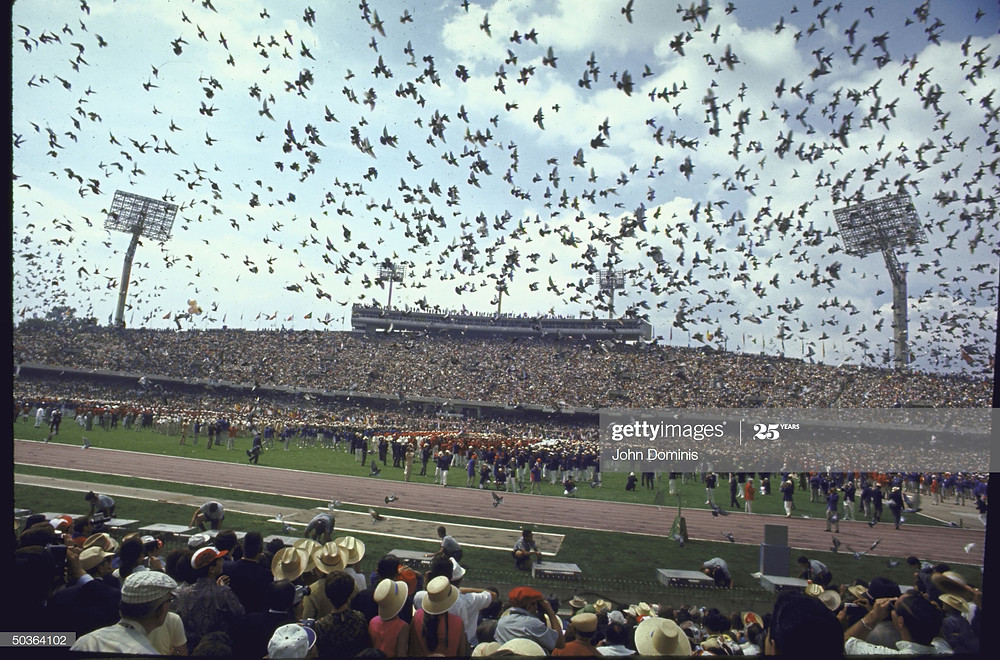 Dove Release at the 1968 Olympics in Mexico City