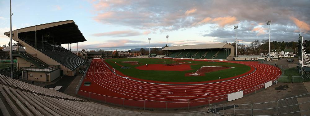 Hayward Field, University of Oregon site of 1980 U.S. Track & Field Trials
