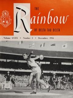 Al Oerter, Cover of Delta Tau Delta Magazine, 1956