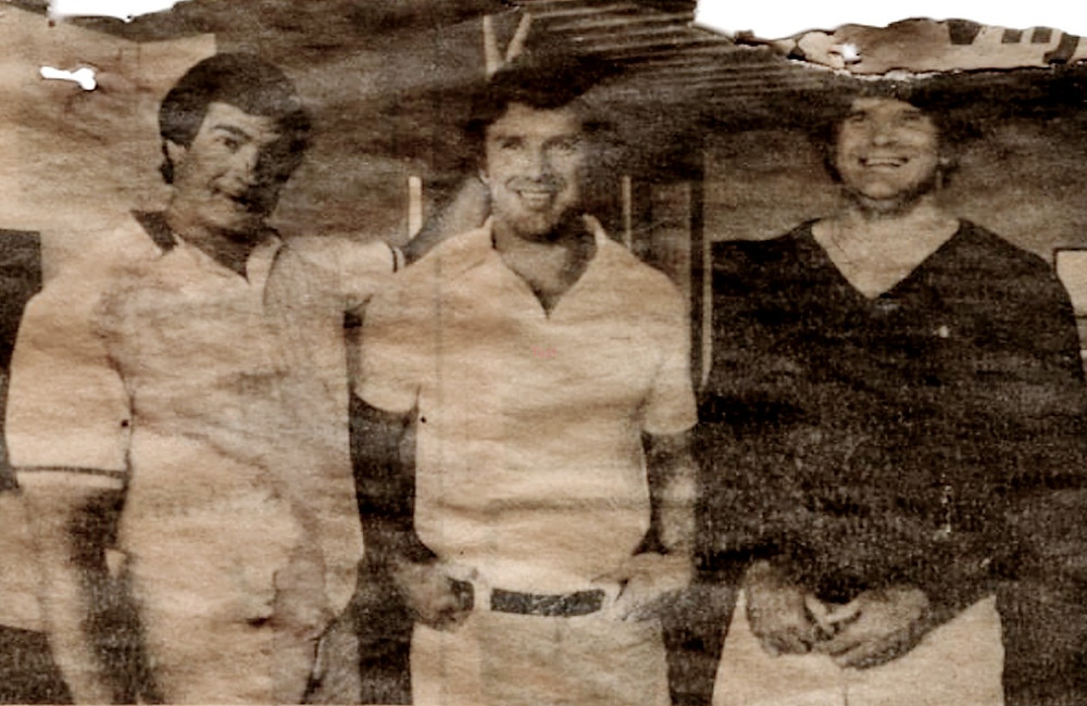 L to R: Swarts, Oerter, Oldfield, 1981 Iceland News Clipping (courtesy Art Swarts)