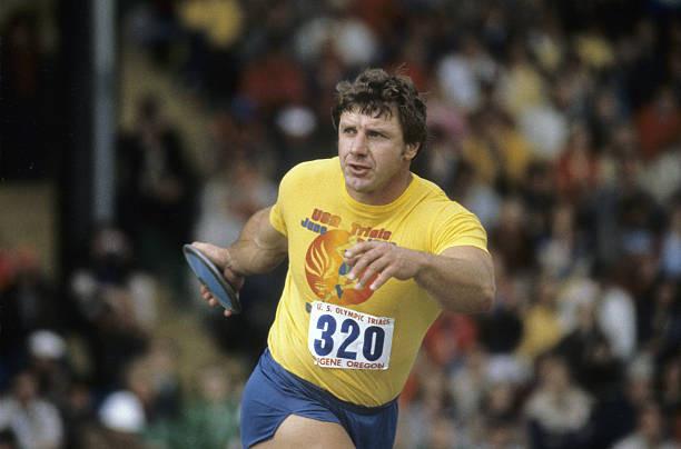 Al Oerter at 1980 U.S. Trials, Men's Discus Finals, 06/25/80
