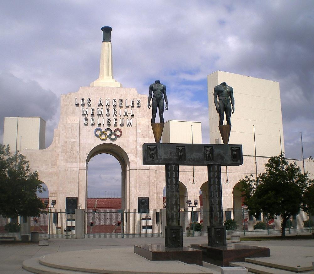 The LA Memorial Coliseum, 1956