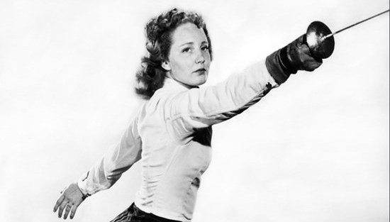 Fencer Janice-Lee York (West Coast Fencing Archive)
