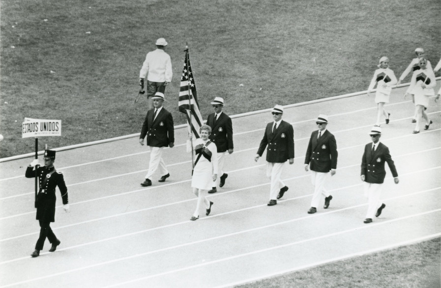 One of Al Oerter's favorite 1968 Olympic photos