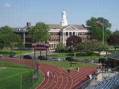 Bay Shore HS , site of Farrell's 1st NYS record