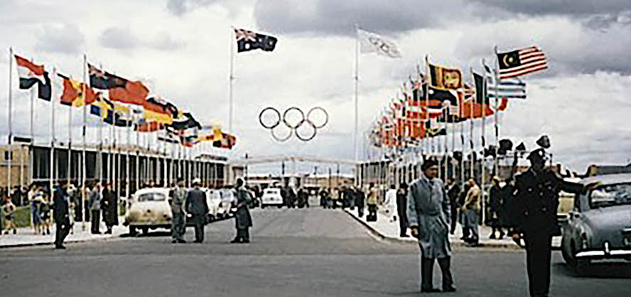 The entrance to the '56 Olympic Village