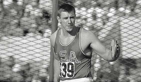 Al Oerter about to win his second consecutive Discus Gold Medal (Rome, 1960)