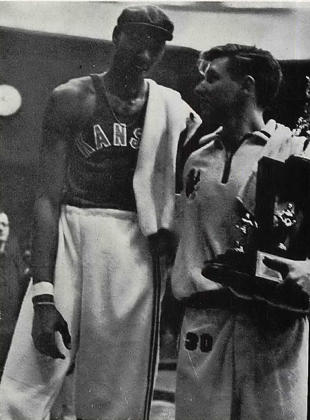 Wilt and Al at 1958 Big 8 Conference Championship Meet