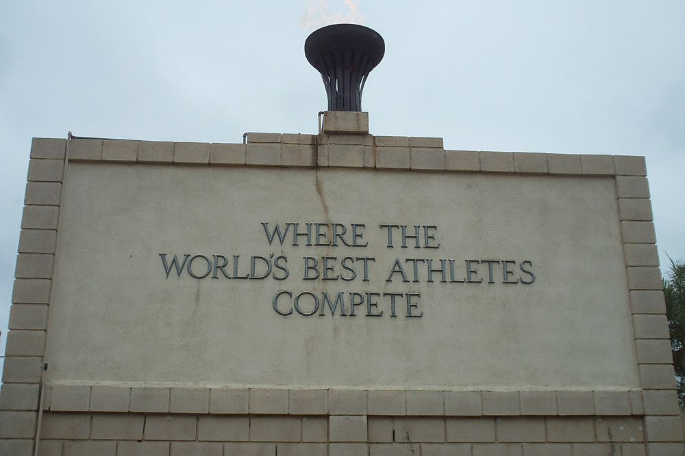 Olympic Flame & Wall of Honor, Hilmer Lodge Stadium, Mt. San Antonio College