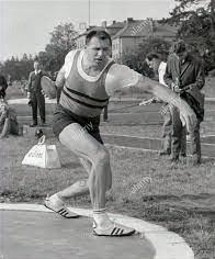 Ludvik Danek (Czechoslovakia) World Record Holder, Olympic Favorite