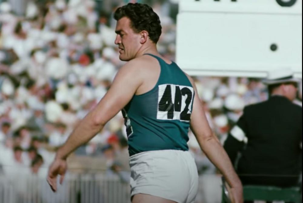 Adolfo Consolini at the 1956 Olympics
