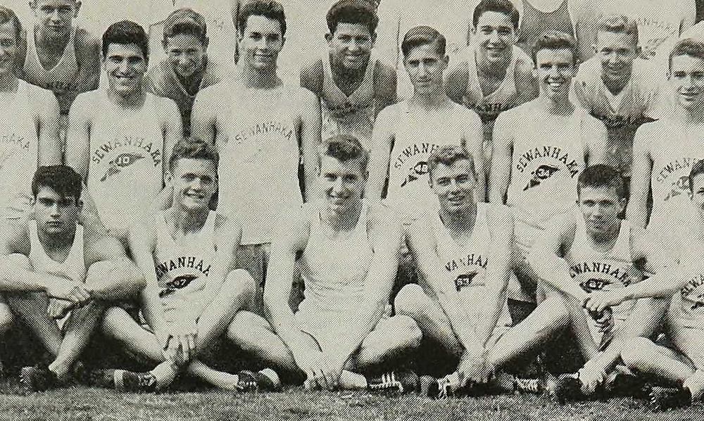 Al Oerter (1st row, middle), 1954 Sewanhaka HS Track & Field team