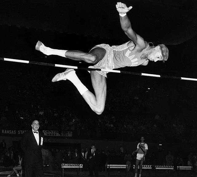Wilt wins his third Big 8 High Jump title