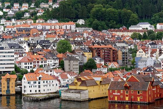 """Old Wharf"" in Bergen, Norway"