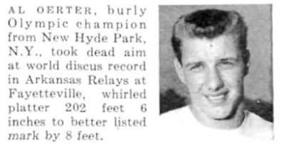 "Al Oerter ""Faces in the Crowd"", Sports Illustrated, April 14th, 1958"