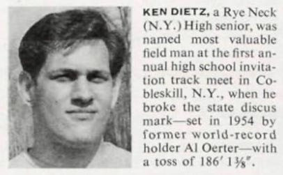 """Ken Dietz, Sports Illustrated """"Faces in the Crowd"""" 5/29/67"""