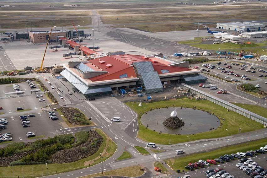 More modern Keflavik International Airport, Iceland,  today