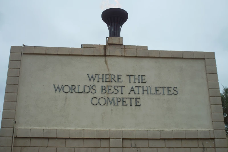 Monument at Hilmer Lodge Stadium at Mt. SAC