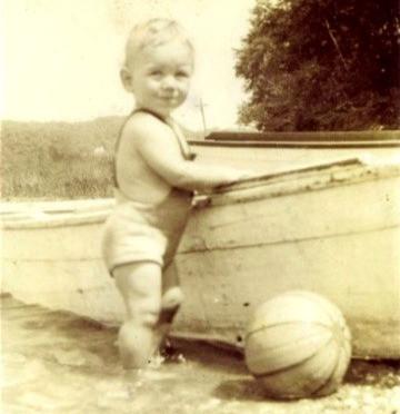 Young Al Oerter Enjoying a Summer Outing