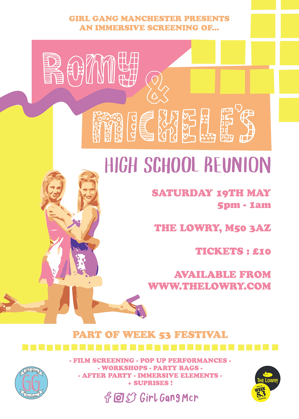 Girl Gang Manchester Romy and Michele Screening
