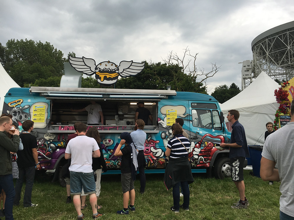 Almost Famous serving burgers at Bluedot Festival
