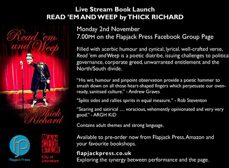 Flapjack Press launch Read 'em and Weep by Thick Richard