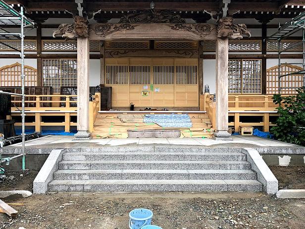 寺社修復作業