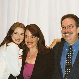 Drew Barrymore and Nancy Juvonen with Nadine Christine Hamdan & Gordon Meyer With Hollywood's Master Storytellers
