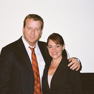 McG With Nadine Christine Hamdan Before Screening