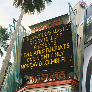 """Hollywood's Master Storytellers Filming """"The Aristocrats"""" At Graumans Chinese Theater"""