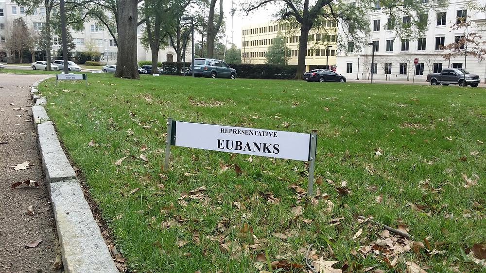 My new parking spot.