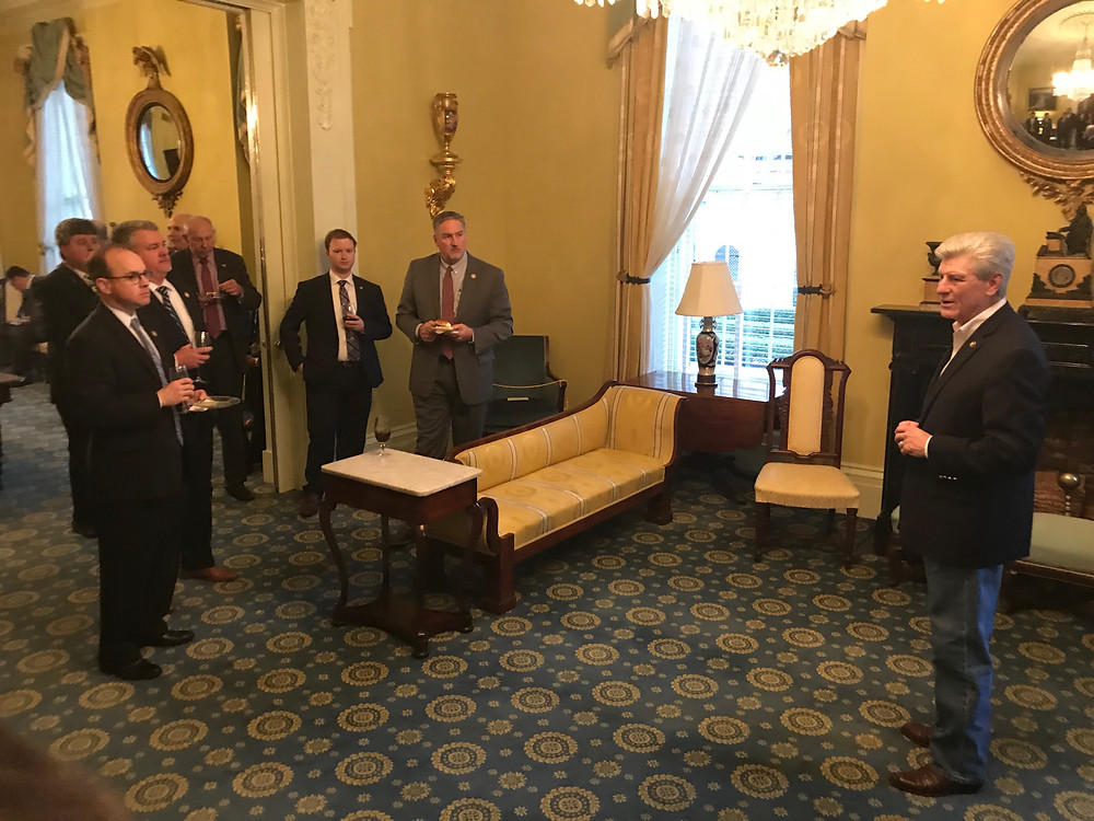 Legislative Reception at the Governor's Mansion.
