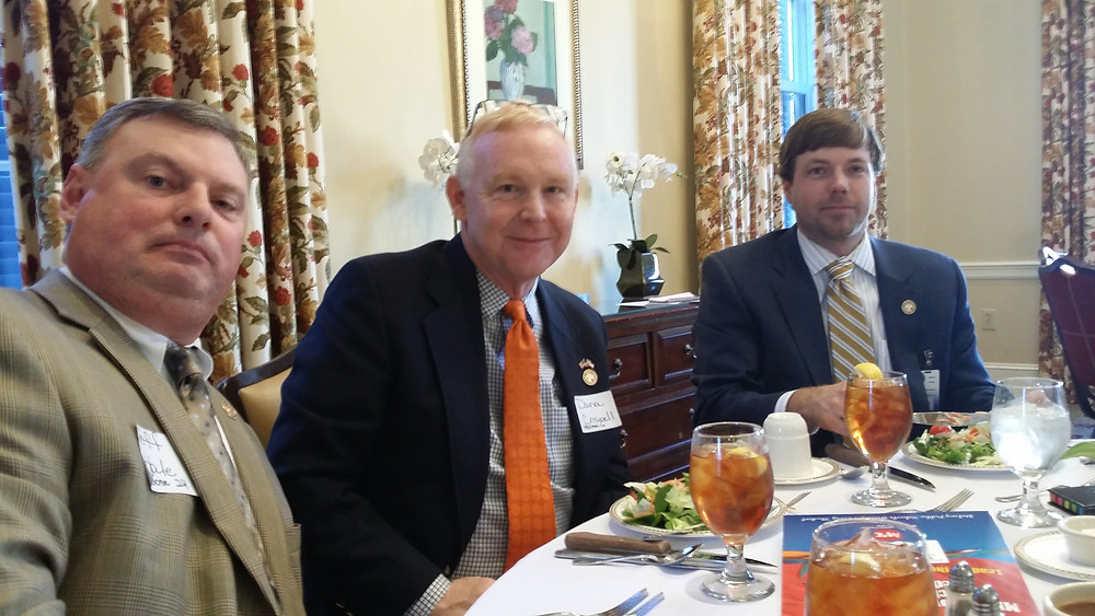 Jeff Hale, Dana Criswell and Robert Foster at MAE luncheon.