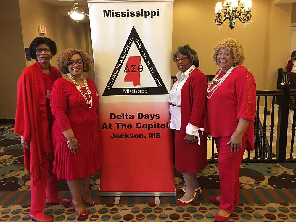 Hanging with my Desoto County Delta ladies.